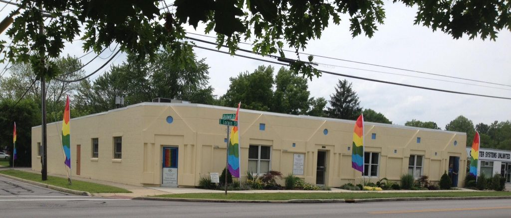 The front of the Oberlin Unitarian Universalist Fellowship Building